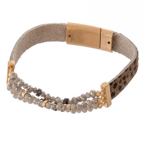 Leopard Print Magnetic Bracelet