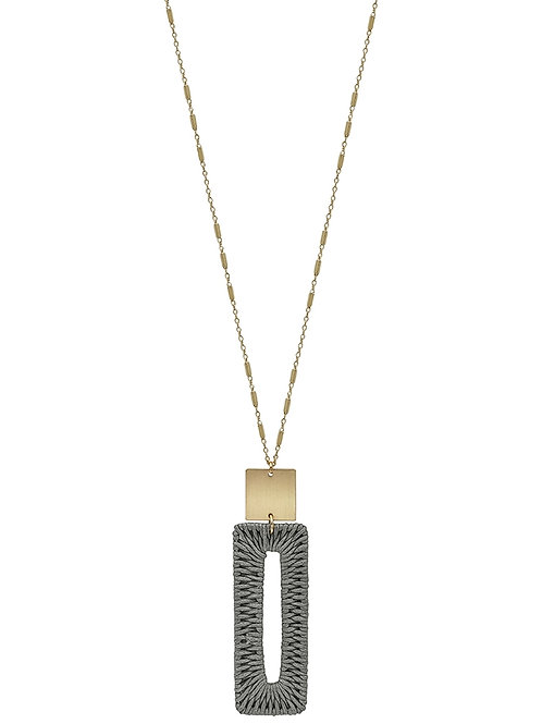 Woven Rectangle Necklace