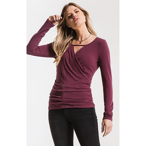 The Wrap Long Sleeve Top