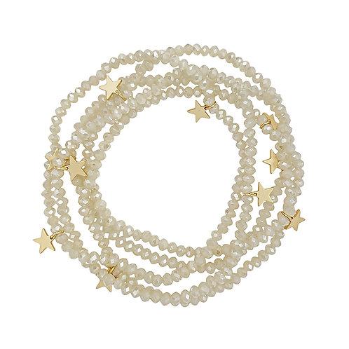 Crystal & Star Stretch Bracelet Set