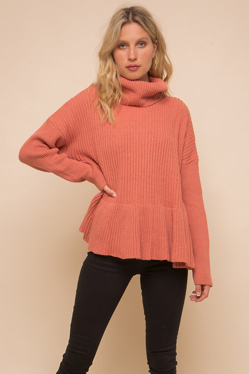 Ruffled Bottom Sweater