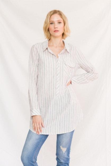 Striped Shirt Tunic