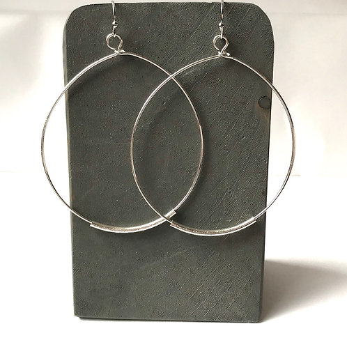 Round Dangle w/Curved Bar Earrings