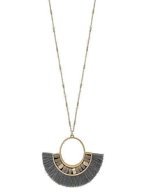 Tassel Fan Necklace