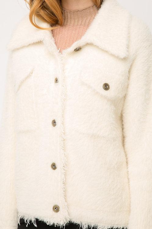 Eyelash Sweater Jacket