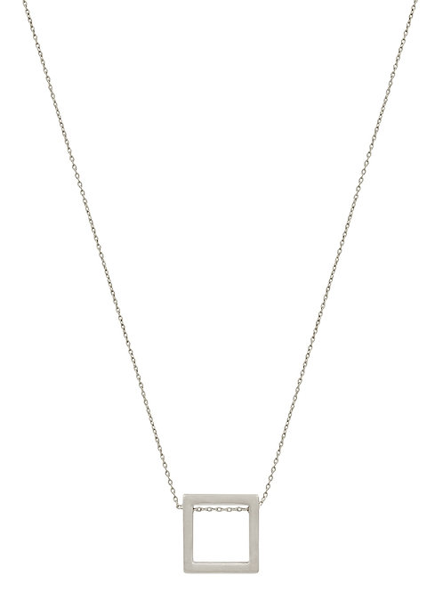 Petite Open Square Necklace