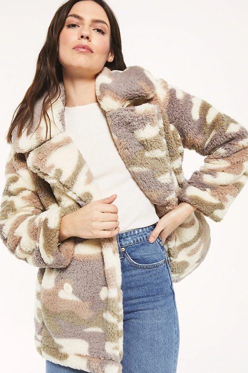 Pippa Sherpa Camo Coat