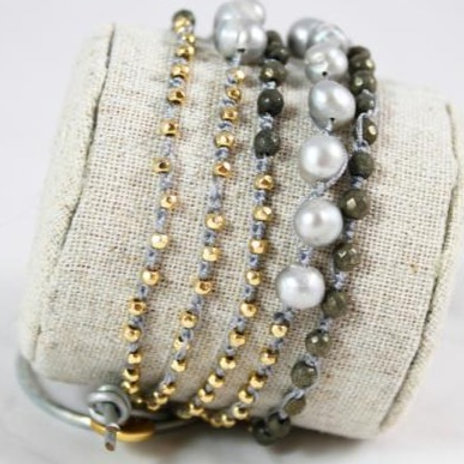 Precious Stone 5 Wrap Bracelet
