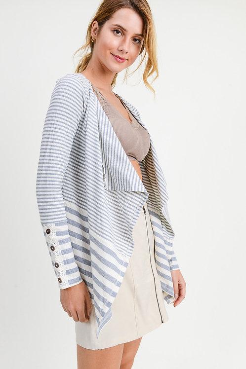 Stripe Cardigan Crochet Detail