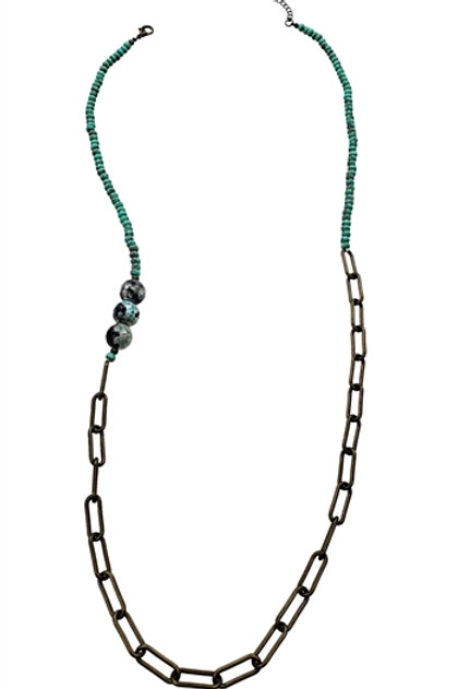Green Turquoise Beads Necklace