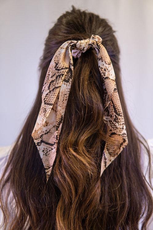 Snakeskin Print Hair Tie