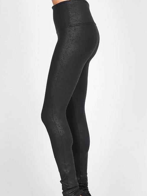 Antiqued Leatherette Legging