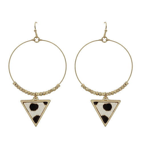 Hoop w/Triangle Drop Earring