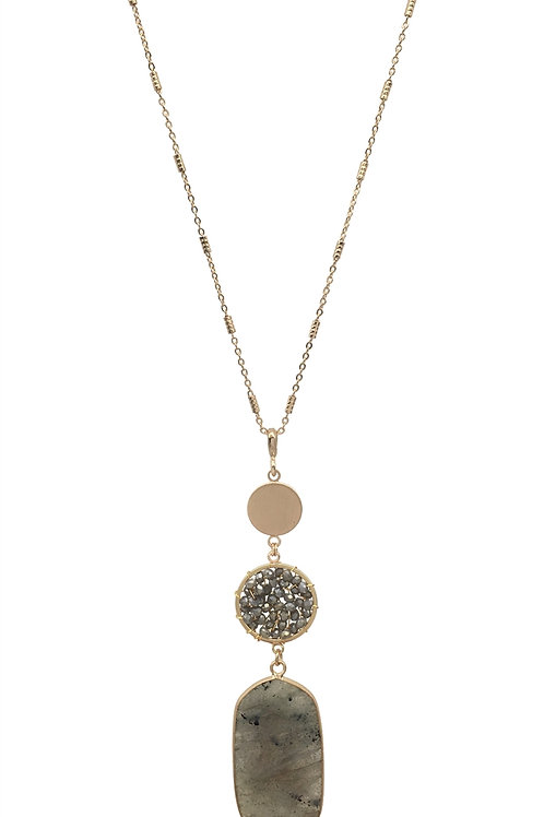 Stone & Crystal Necklace