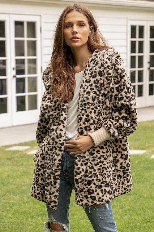 So Soft Leopard Sherpa Jacket