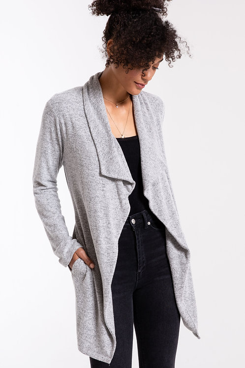 The Marled Wrap Front Cardigan