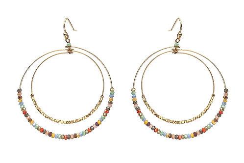 Crystal Double Hoop Earrings