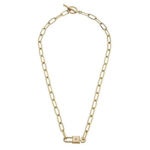 Lock & Key Chain Link Necklace
