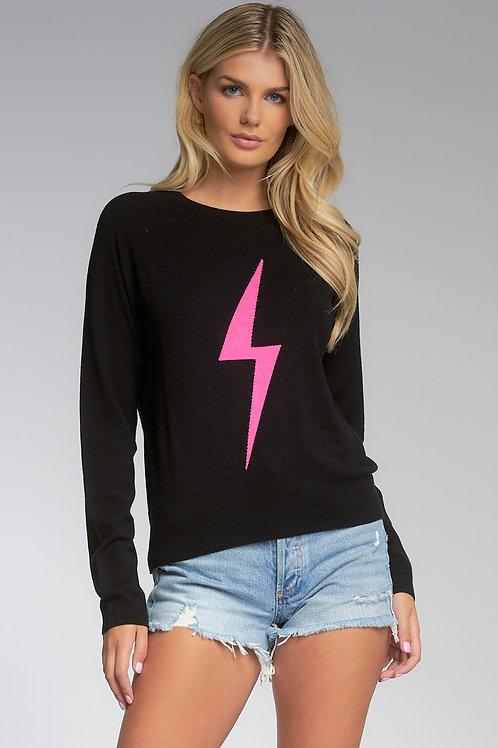 Pink Lightning Bolt Sweater