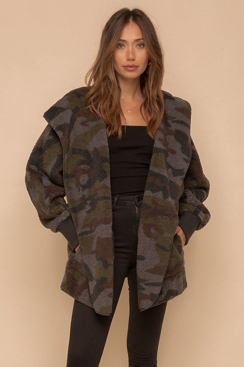 So Soft Camo Sherpa Jacket
