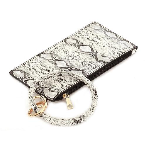 Vegan Leather Wallet w/Key Ring