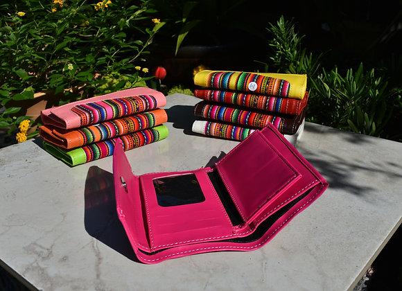 Wallet, Manta Textile & fake Leather