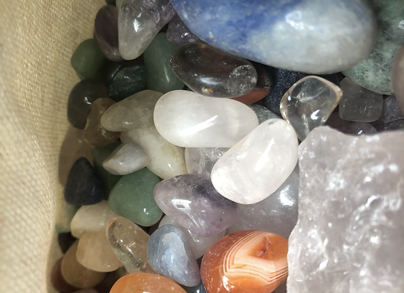 Offering bags, mixed crystals