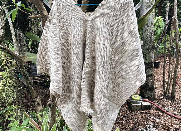 100% Cotton Poncho, Mhuyska made