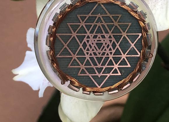 Orgone double sided-Sri Yantra Cosmic Sensor