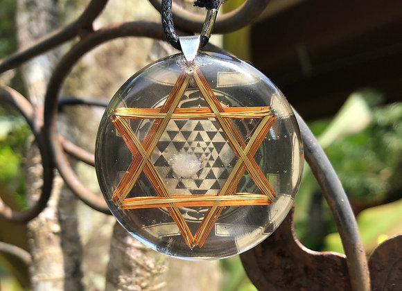 Orgone Sri Yantra Hexagram