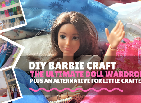 Barbie Clothes Storage Hacks/ DIY Barbie Wardrobe