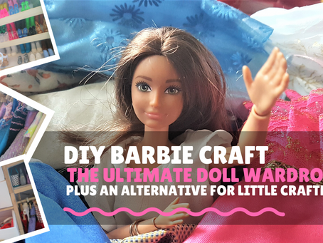Barbie Clothes Storage Hacks/ DIY Barbie Wardrobe
