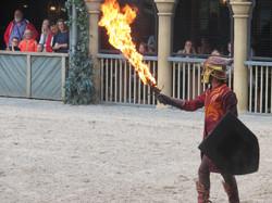 Pyrotechnie épée de feu