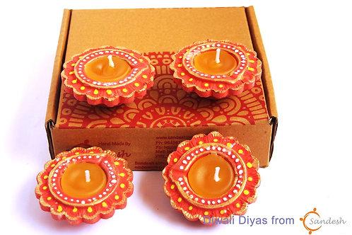 Set of 4 | Diwali Diya