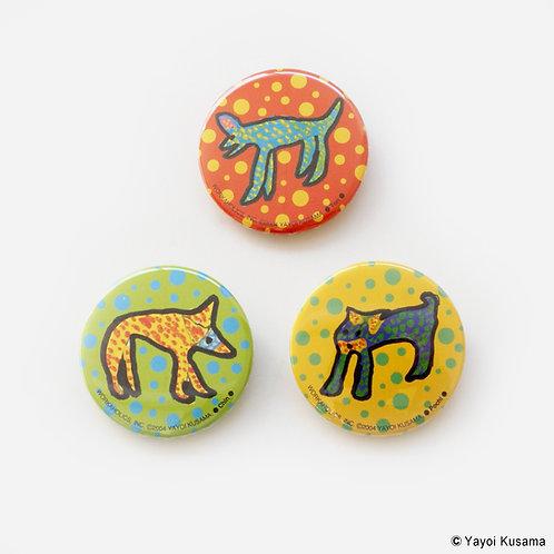 [ Yayoi Kusama Product ] Yayoi Kusama Button Badge Set of 3