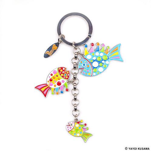 [ Yayoi Kusama Product ] Yayoi Kusama FISH Key Ring