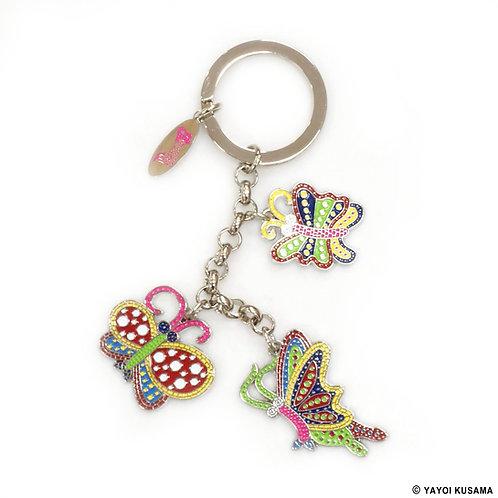 [ Yayoi Kusama ] Yayoi Kusama BUTTERFLIES Key Ring