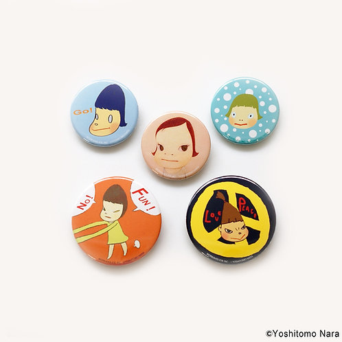 [ Yoshitomo Nara Product ] Yoshitomo Nara Button Badge Set of 5