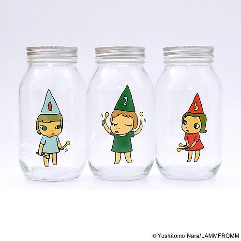 [ Yoshitomo Nara Product ] Yoshitomo Nara Storage jar GARL (900ml)