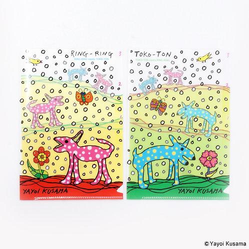 [ Yayoi kusama Product ] Yayoi Kusama Plastic File Folder Set of 2