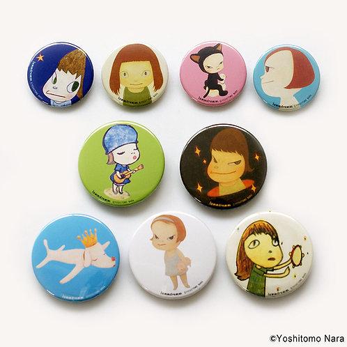 [ Yoshitomo Nara Product ] Yoshitomo Nara Button Badge Set of 9