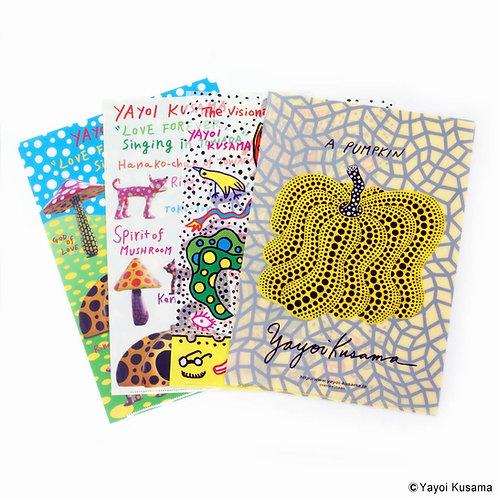 [ Yayoi Kusama Product ] Yayoi Kusama Plastic File Folder Set of 4