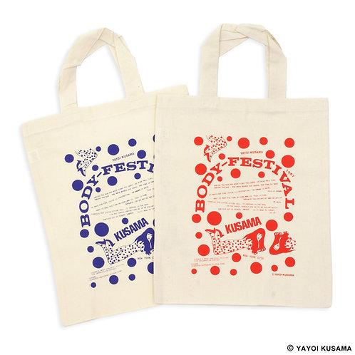 """[ Yayoi Kusama Product ] Yayoi Kusama """"BODY FESTIVAL"""" Bag set of 2"""