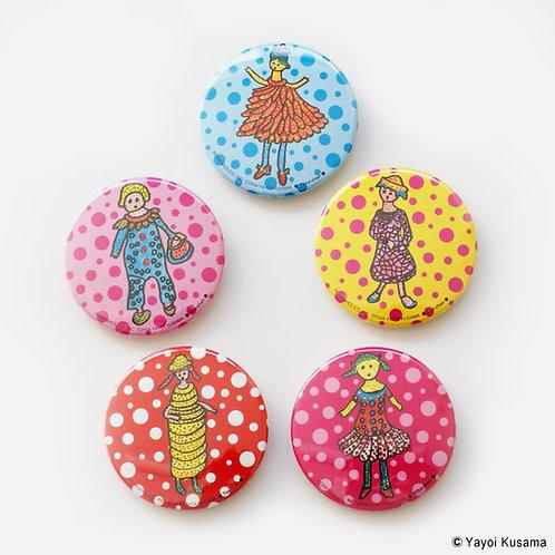 [ Yayoi Kusama Product ] Yayoi Kusama Button Badge Set of 5