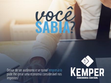 Deixar de ser autônomo e se tornar empresário pode lhe gerar uma economia considerável nos impostos!
