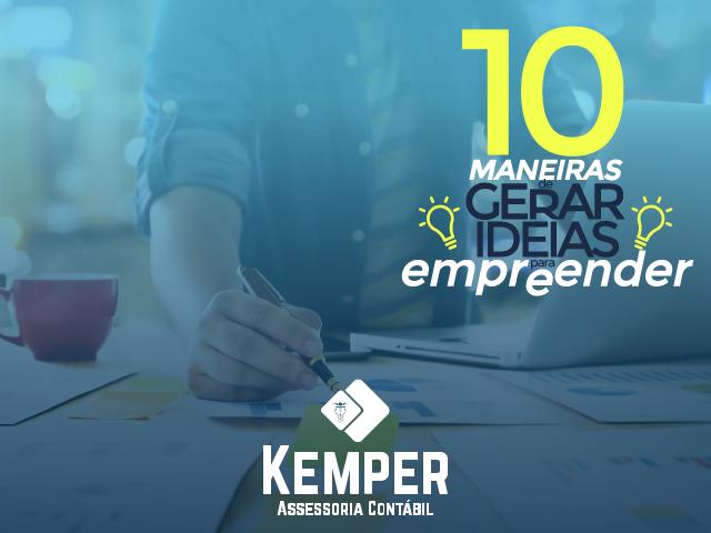 10 maneiras de gerar ideias para empreender