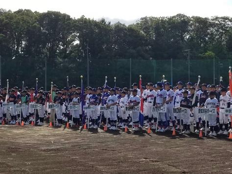 1年生チーム「第15回アシックス旗争奪中学生ジュニア大会」は台風の影響のため中止、エキシビションにて順位決定戦が行われました。