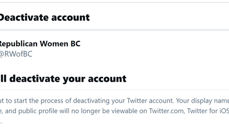 Republican Women of Baltimore County Cancels Twitter Account