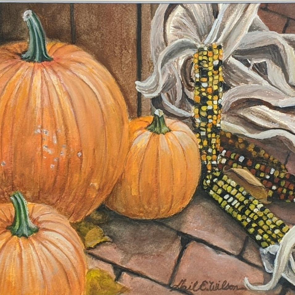 Pumpkins & Indian Corn
