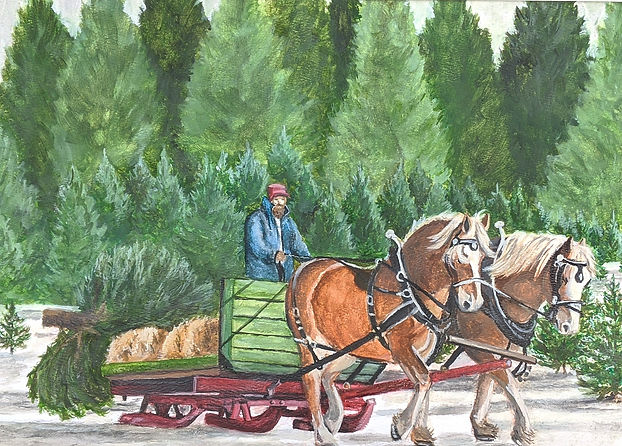 Christmas, Draft Horses